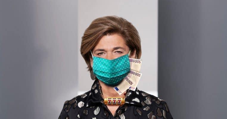 Bettina Glatz-Kremsner darf endlich Maske tragen