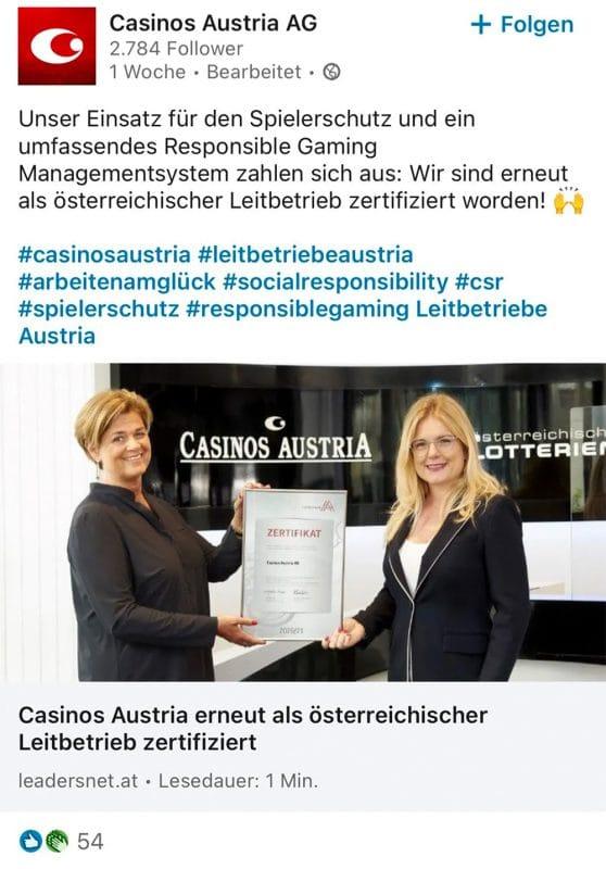 Leitbetriebe Austria Casinos Austria