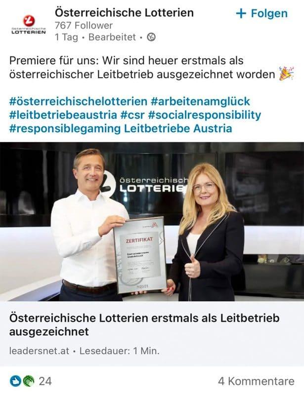 Leitbetriebe Austria Österreichische Lotterien
