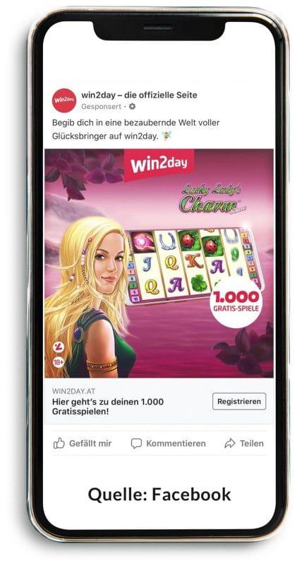 win2day Werbung: Viele Glücksbringer warten