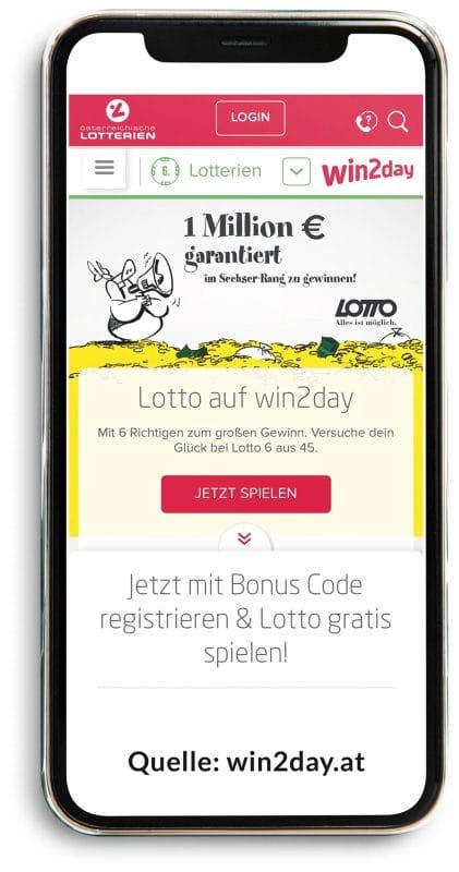 win2day Werbung: Gratis Lotto spielen