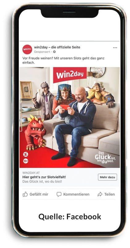 Win2day Werbung: Vor Freude weinen